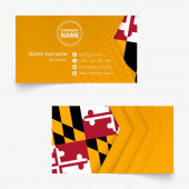 Maryland Flag Business Card standard size (90x50 mm) business card template