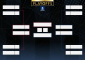 Two conference tournament bracket for 8 team or player on dark background