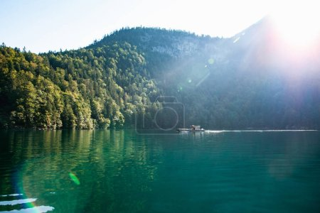 Stunning deep green waters of Konigssee, known as Germany deepest and cleanest lake