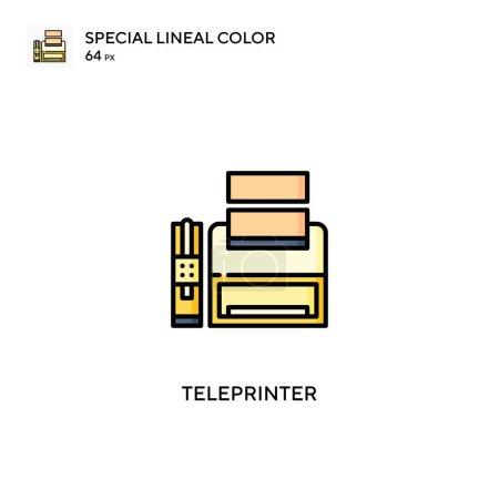 Teleprinter Spezielles lineares Farbvektorsymbol. Teleprinter-Symbole für Ihr Geschäftsprojekt