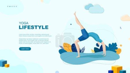 Trendy flat illustration. Yoga Lifestyle page conc...
