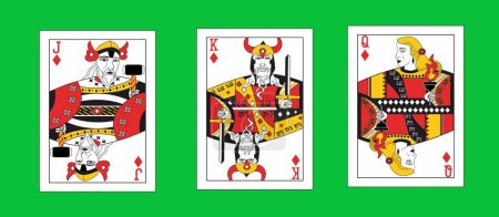 The illustration - set of the playing cards in vik...
