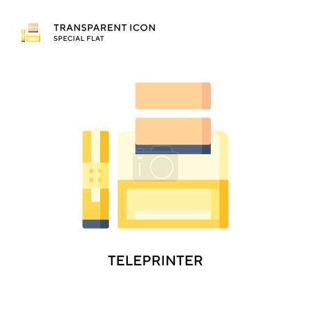Teleprinter-Vektorsymbol. Flache Illustration. EPS 10-Vektor.