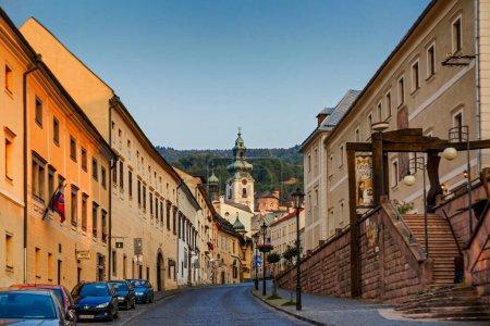 Photo pour The main street in Banska Stiavnica,UNESCO, Slovakia - image libre de droit