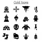Cold icon set vector illustration graphic design