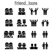 Friendship & Friend icon set