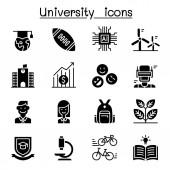 University college school icon set