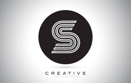 Illustration pour S Lettre Monogramme Logo Design. Icône S moderne avec la conception créative belle monogramme noir . - image libre de droit