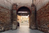 Soave, Italy-August 4, 2018: The castle of Soave, is one of the most valuable fortifications in the Veneto region