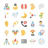 Healthcare and Fitness Vector Icons Set