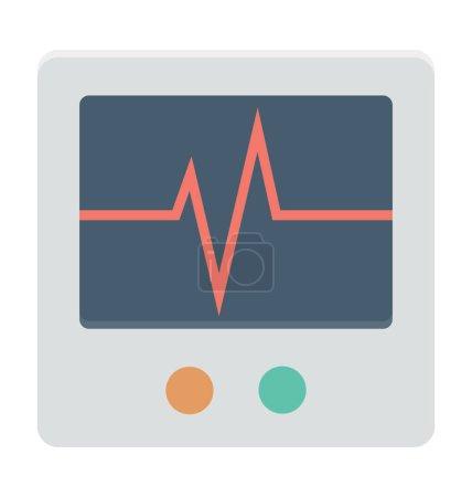 ECG Machine Colored Vector Icon...