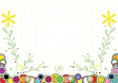 Floral backround with fame for text vector and jpg format