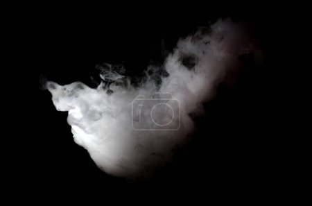 Photo for Cloud of White smoke on black background - Royalty Free Image