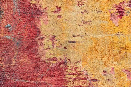 Photo for Texture of a concrete wall with cracks and scratches which can be used as a background - Royalty Free Image