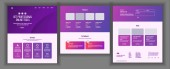 Website Template Vector Page Business Technology Landing Web Page Creative Modern Layout Payment Plan Industry Innovation Money Pay Illustration