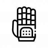 Cyber Hand Artificial Intelligence Vector Icon