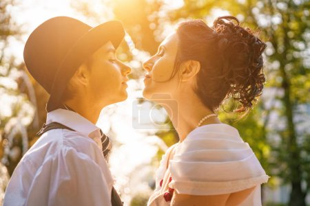 Photo for Two women in love, same-sex lesbian wedding - Royalty Free Image