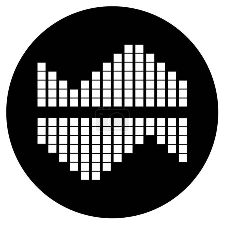 Photo for Sound wave music logo - Royalty Free Image