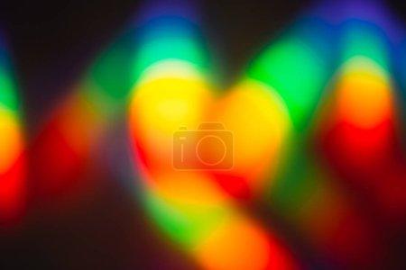 Photo pour Lumière holographique avec rayons arc-en-ciel. Parfait comme toile de fond branchée . - image libre de droit