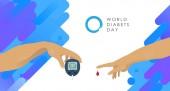 November 14 - World Diabetes Day - poster layout