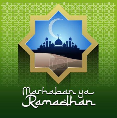 Vector abstract, marhaban ya ramadhan, congratulat...