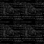 Seamless math black board with handwritten mathematical and phys
