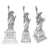 Drawing of Statue of Liberty in set for national posters 4th Jul