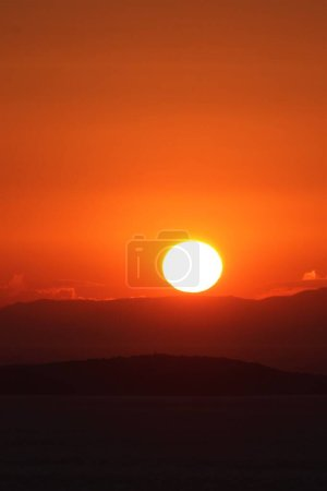 Photo for Sunset view from Devil's Dinner Table in Ayvalk, Balikesir, Turkey - Royalty Free Image