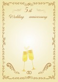 Anniversary  celebrate wedding beautiful illustrationWedding invitation card white backgroundCalligraphy Digital clip Art design Wedding elements Invitation card Convenient for printing