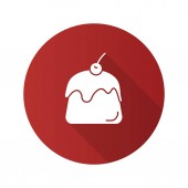 Pudding flat design long shadow glyph icon