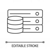 Database linear icon digital storage