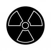 Nuclear energy glyph icon atomic power
