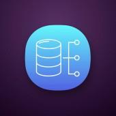 Relational database app icon server