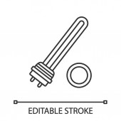 Water heater element linear icon