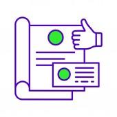 Branding design color icon Brand book Corporate identity Startup logo Isolated vector illustration