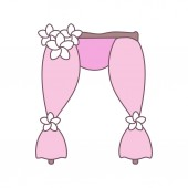 Wedding arch colored minimalistic vector illustration