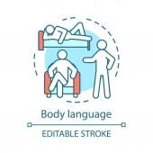 Body language concept icon