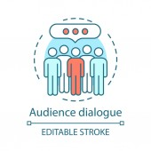 Audience dialogue concept icon