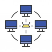 Local area network color icon