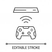 Wireless gaming controller linear icon