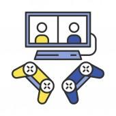 Video games color icon