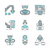 RPA color icons set