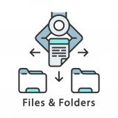 Files and folders color icon
