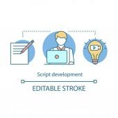 Script development concept icon