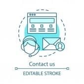 Contact us concept icon