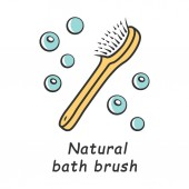 Natural bath brush color icon