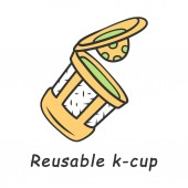 Reusable k-cup color icon