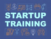 Startup training word concepts banner