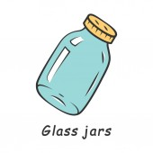 Glass jars color icon