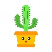 Elephant cactus flat design long shadow color icon
